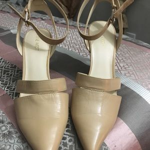 TAN NINE WEST HIGH HEELS